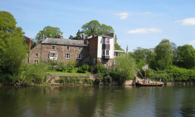 The training centre on the River Wye.